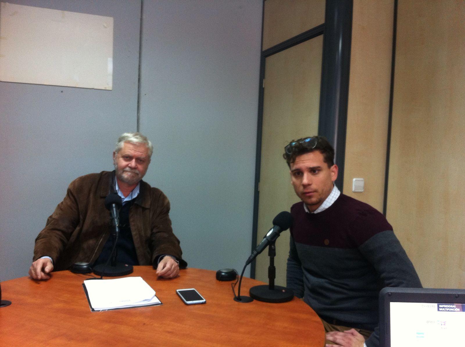 David Ibáñez VOX y Francis Martínez en la Junga. Radio 4G